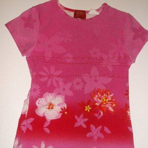 Kenzo Pink Red Top Girl Size 8
